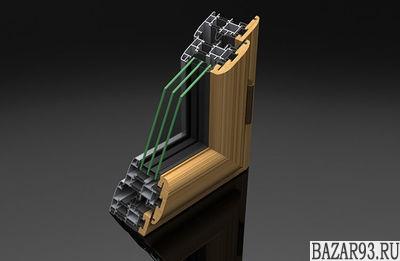 Алюминиево-деревянные окна Perla,  итальянские алюминиевые окна Mixall