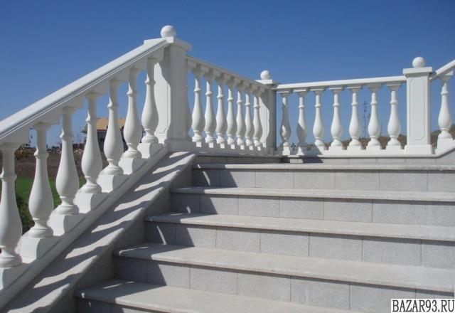 Балясины из белого бетона - производство в Анапе