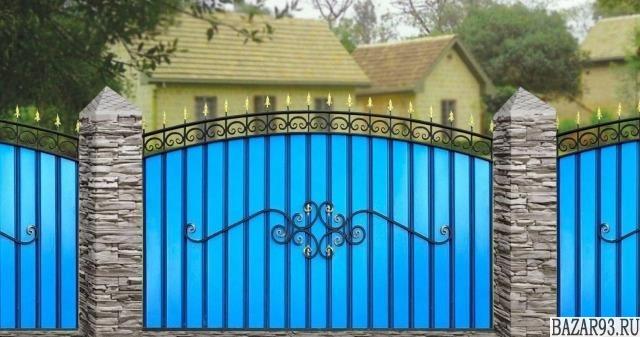 Кованый забор металлопрофиль покраска Hammerite