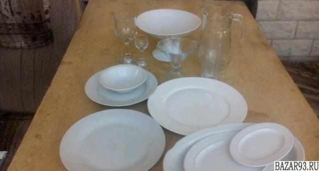 Посуда фарфор,  стекло б.  у