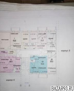Продам квартиру в новостройке ЖК «Алексеевский» ,  Дом 6 1-к квартира 33 м² на 3