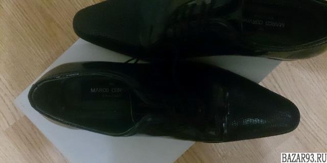 Туфли мужские,  темно синии,  лаковые