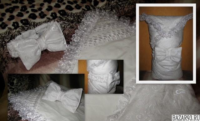 Одеяло-конверт на выписку состояние нового