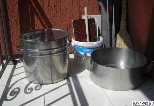 Кастрюля с крышкой 20 литров и сотейник нержавейка
