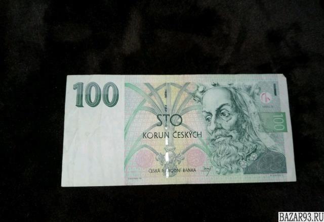 Банкнота фунты,  чешская крона
