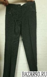 Школьные брюки (серые)  для девочки размер 32