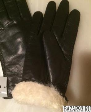 Кожаные женские перчатки
