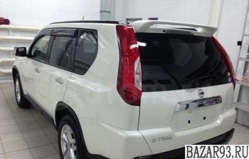 Спойлер Nissan X-Trail T31 белый Ниссан Х трейл Т3