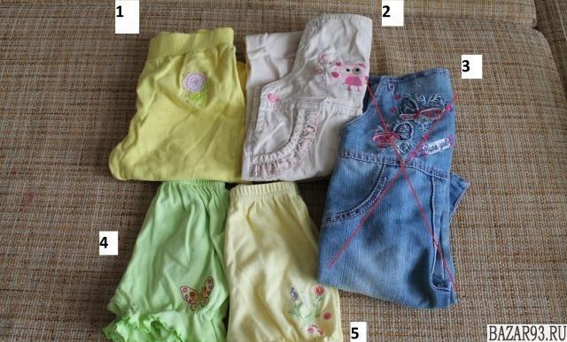 Комбинезон,  штаны и шорты для девочки 2-3 лет