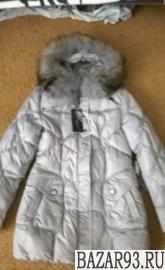 Новый пуховик куртка с мехом на пуху