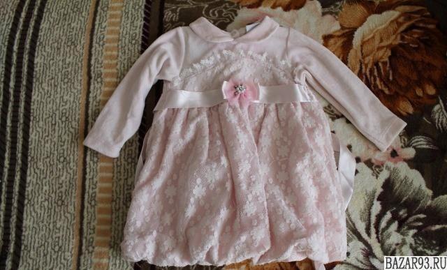 Платье для девочки 8 мес.  - 1, 5 года