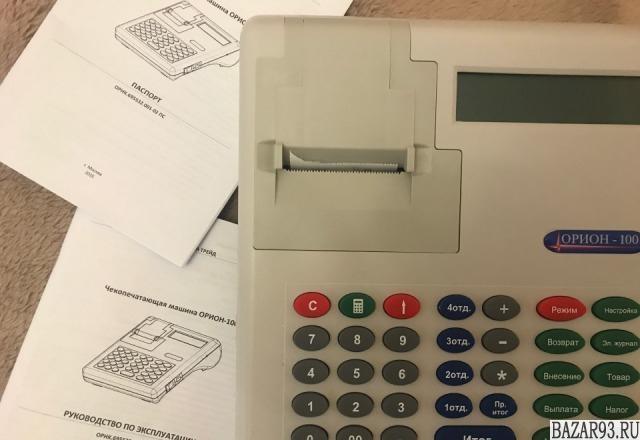 Чекопечатающая машинка орион 100К