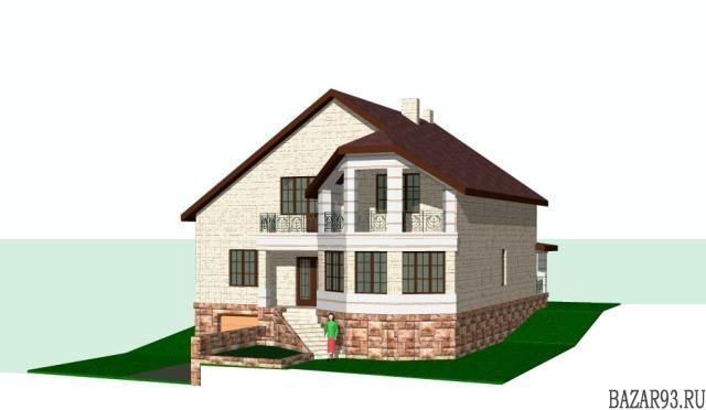 Продам дом 2-этажный дом 312 м² ( кирпич )  на участке 8 сот.  ,  1 км до города