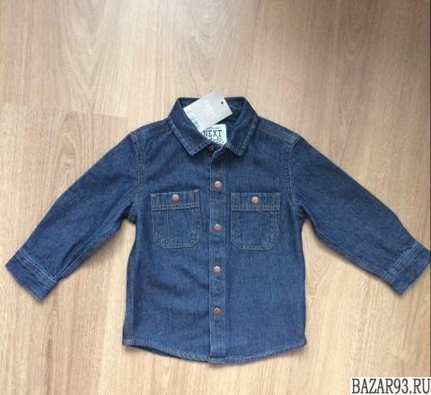Новая джинсовая рубашка Next 12-18 мес