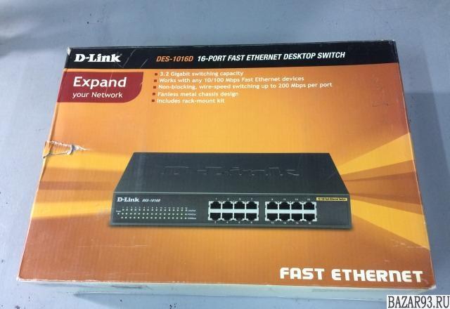 Новый коммутатор D-Link DES-1016D